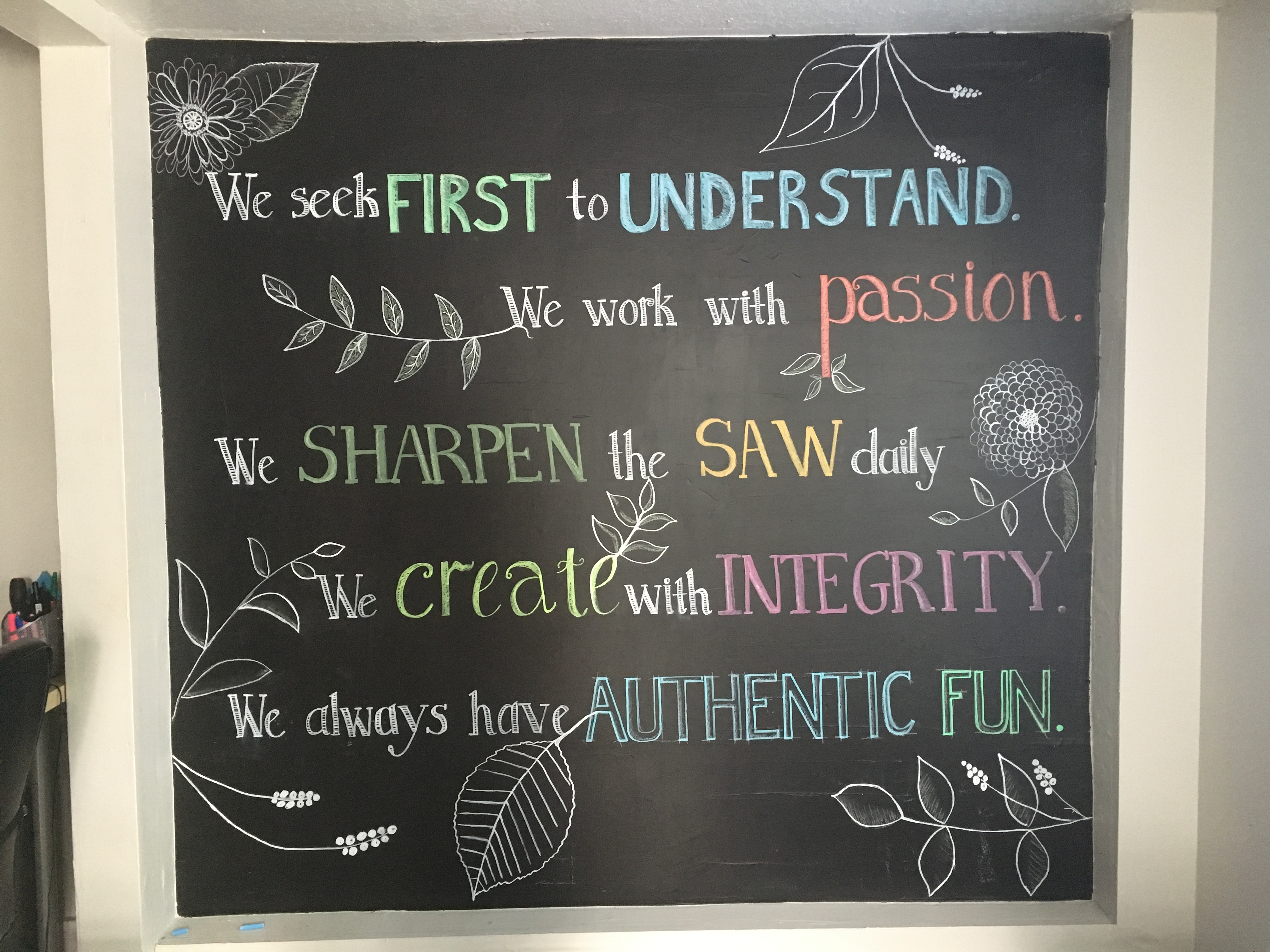 authenticWEB Core Values Wall